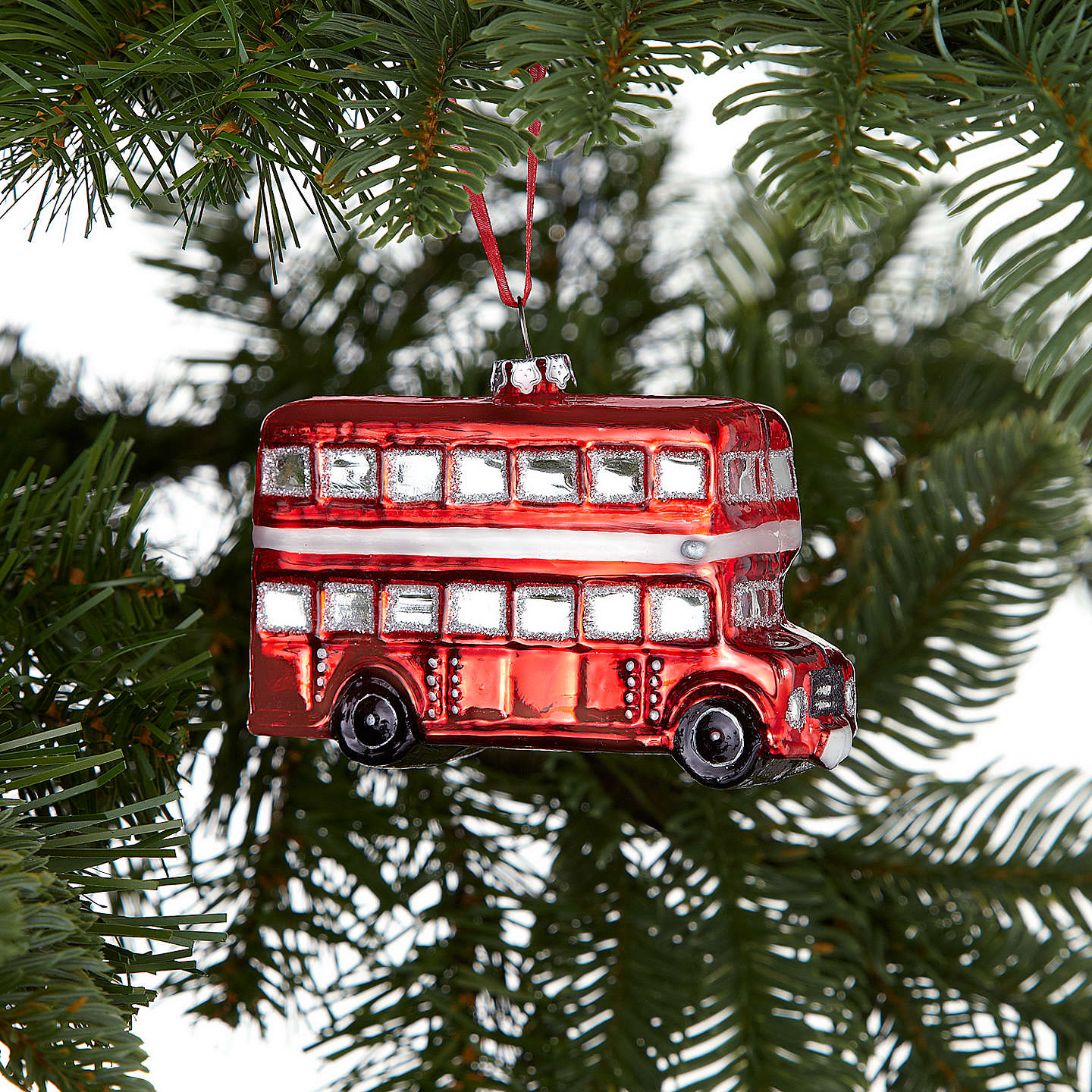 BuyJohn Lewis Tourism Glass London Bus Decoration, Red Online at johnlewis.com