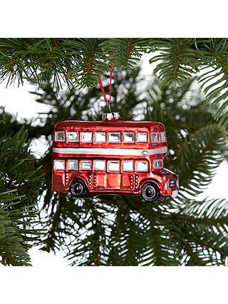 Buy John Lewis & Partners Tourism Glass London Bus Decoration, Red Online at johnlewis.com