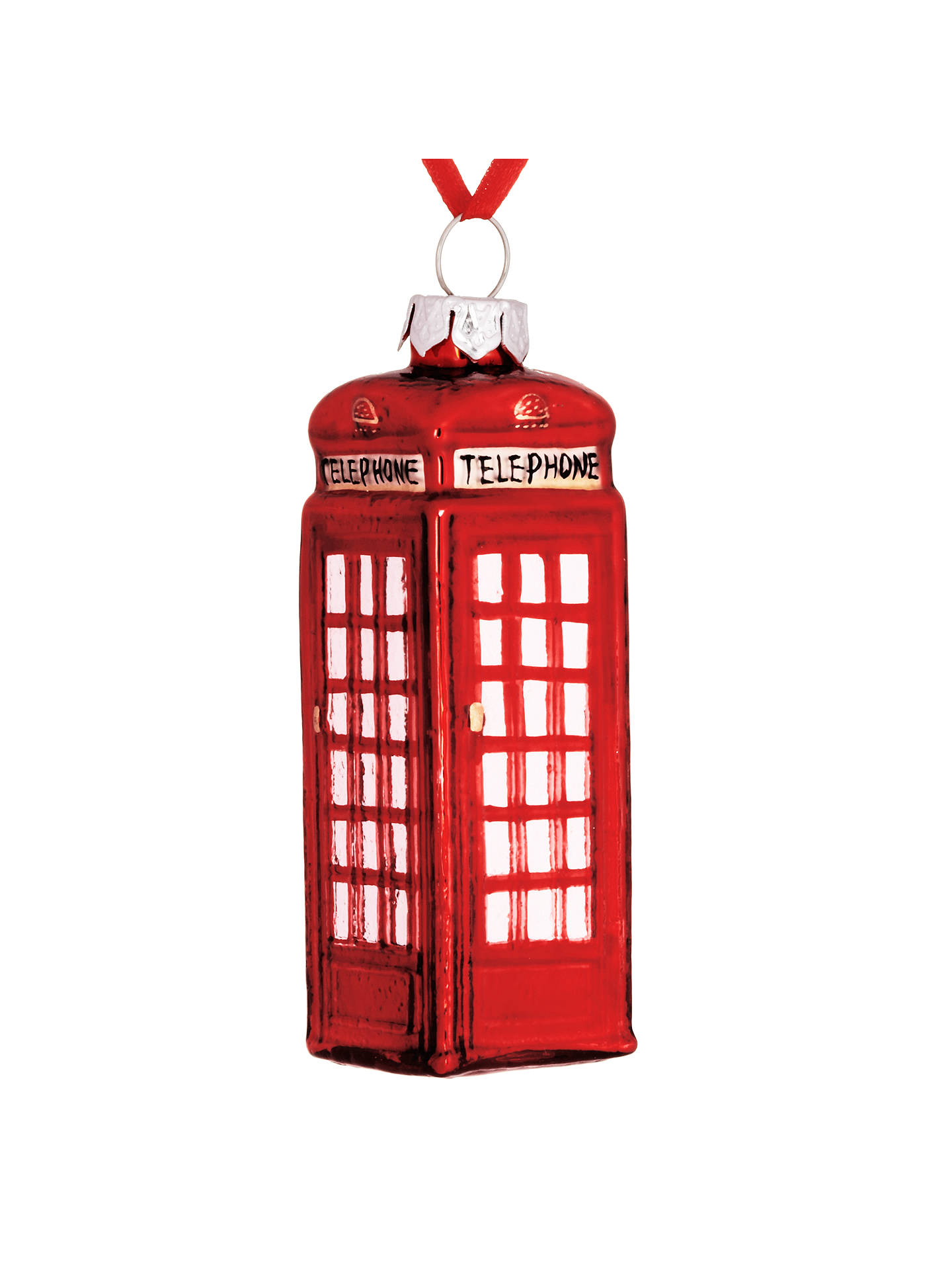 BuyJohn Lewis & Partners Tourism Glass Telephone Box Decoration, Red Online at johnlewis.com