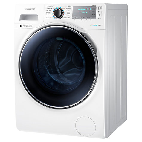 buy samsung ww80h7410ew freestanding washing machine 8kg load a energy rating 1400rpm spin. Black Bedroom Furniture Sets. Home Design Ideas
