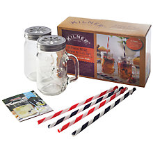 Buy Kilner Mug and Straw Set, 9 Pieces Online at johnlewis.com