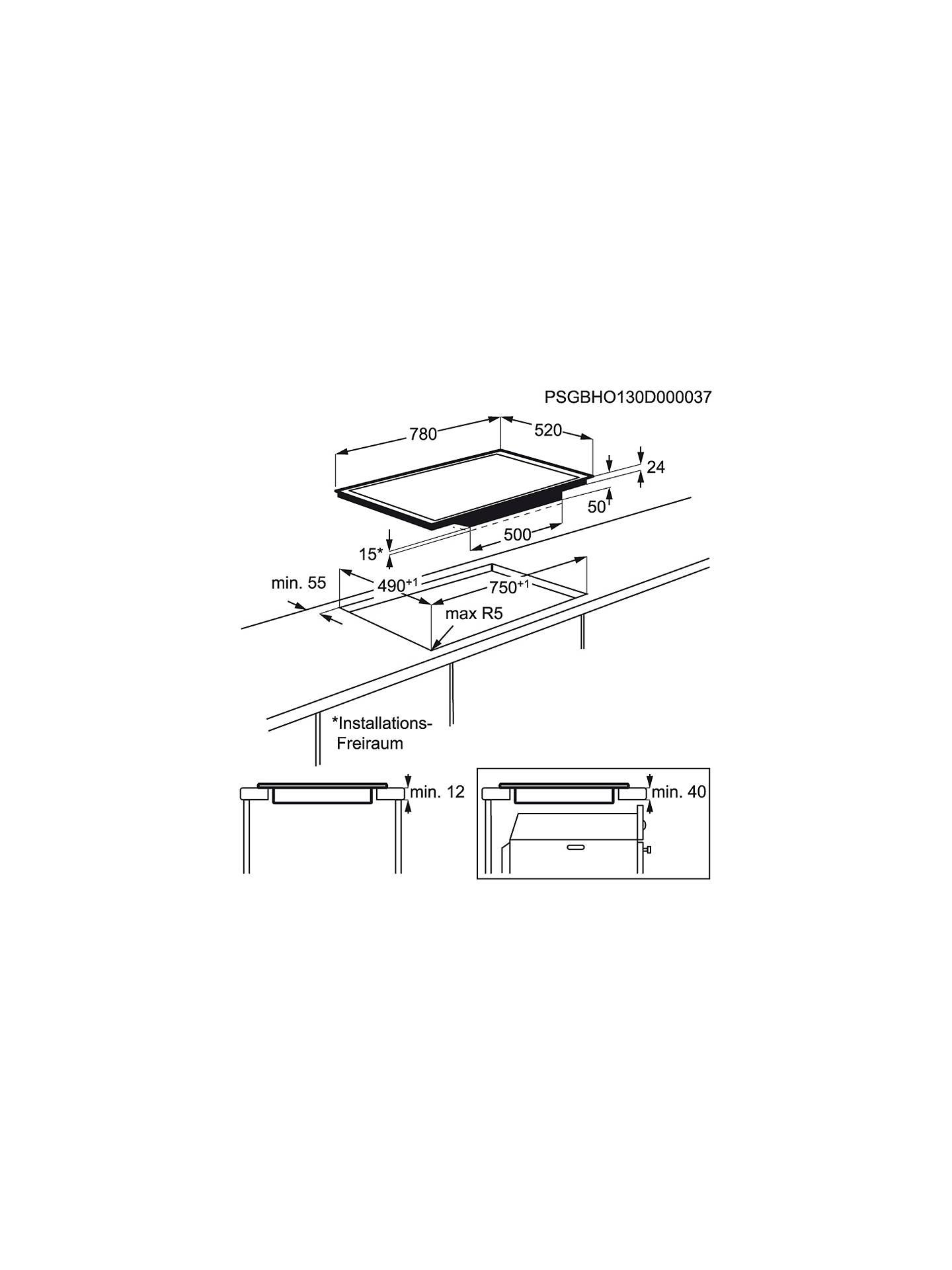 John Lewis Partners Jlbiih805 Induction Hob Black At Cooker Circuit Diagram Buyjohn Online