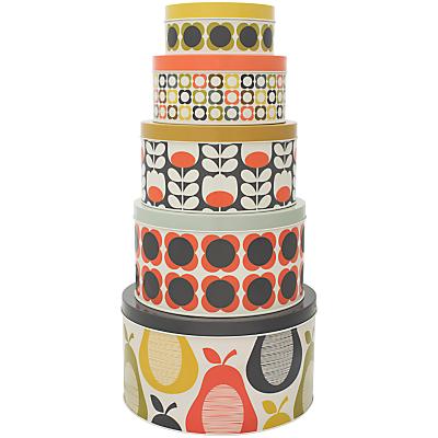 Orla Kiely Cake Storage Tins, Set of 5