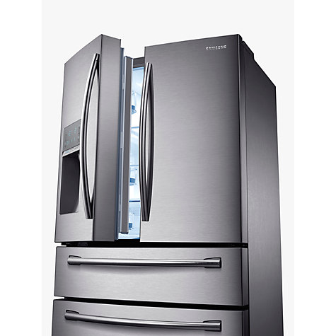 Buy Samsung RF24HSESBSR 4-Door Fridge Freezer, Stainless Steel Online at johnlewis.com