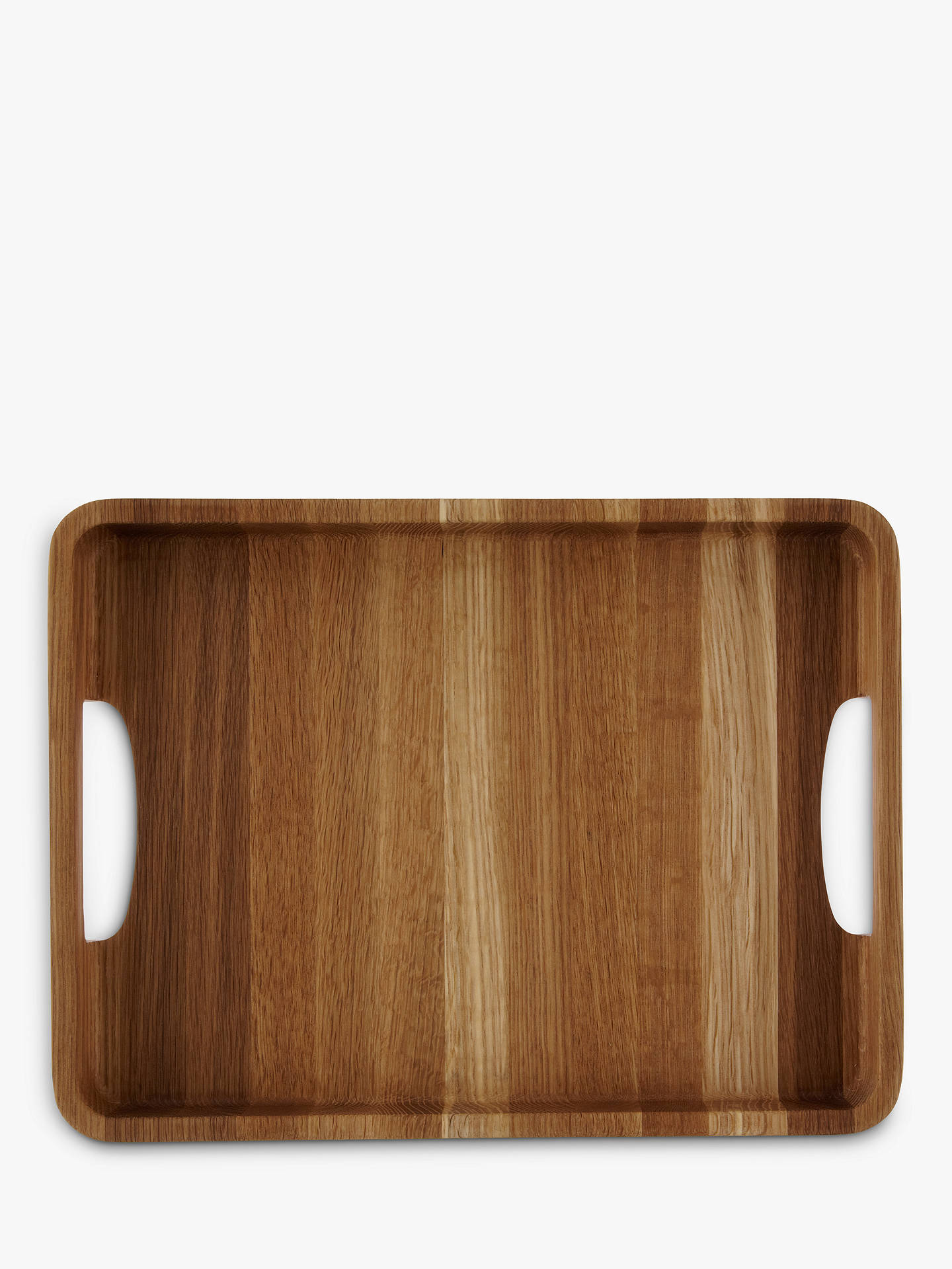 BuyJohn Lewis & Partners Oak Wood Tray, H4 x L26 x W34cm Online at johnlewis.com