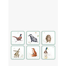 Buy Pimpernel Wrendale Animal Coasters, Set of 6 Online at johnlewis.com