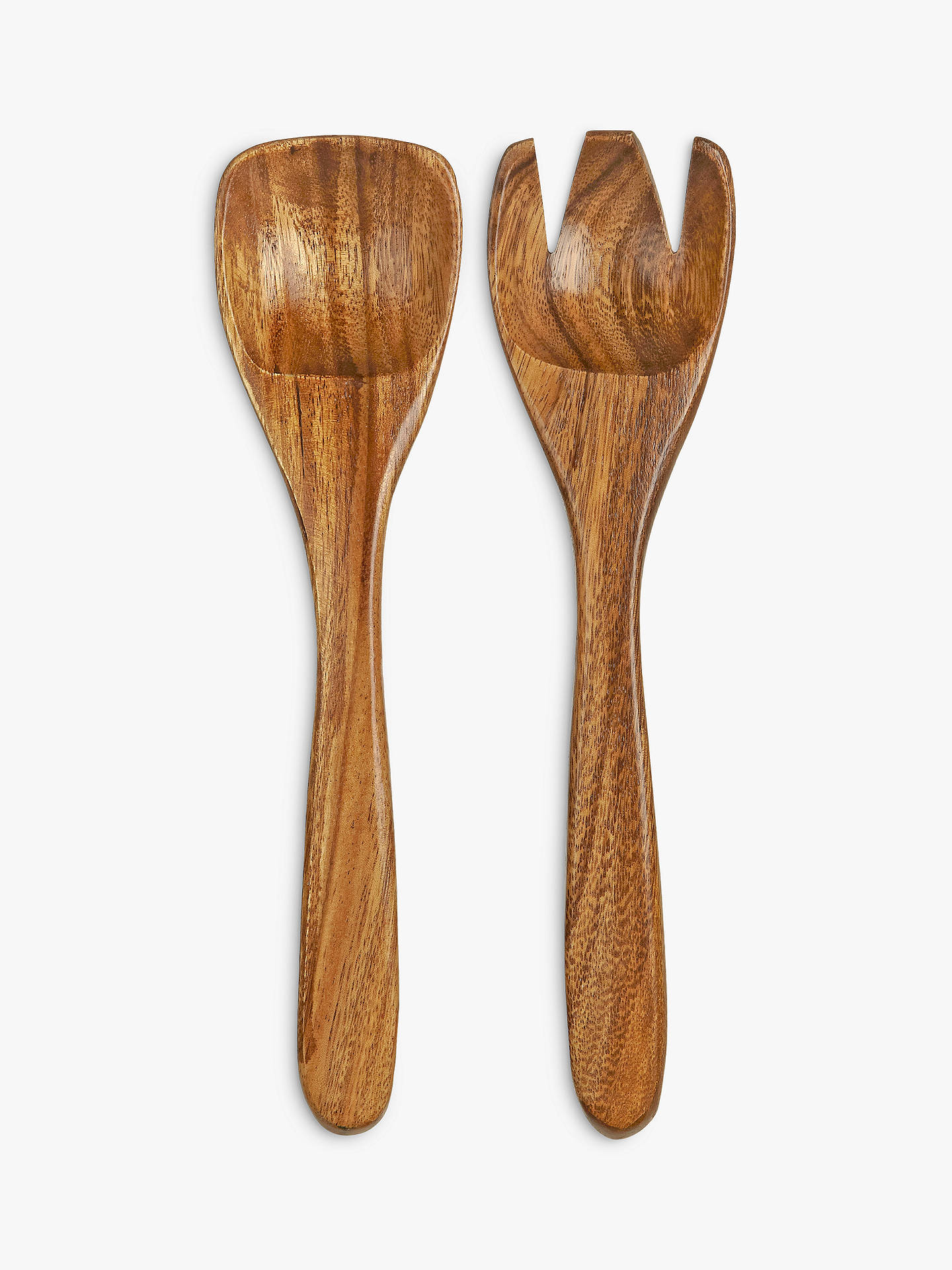 BuyJohn Lewis & Partners Dark Acacia Salad Servers Online at johnlewis.com