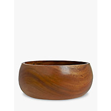 Buy John Lewis Dark Acacia Salad Bowl, Medium Online at johnlewis.com