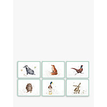 Buy Pimpernel Wrendale Animal Placemats, Set of 6 Online at johnlewis.com