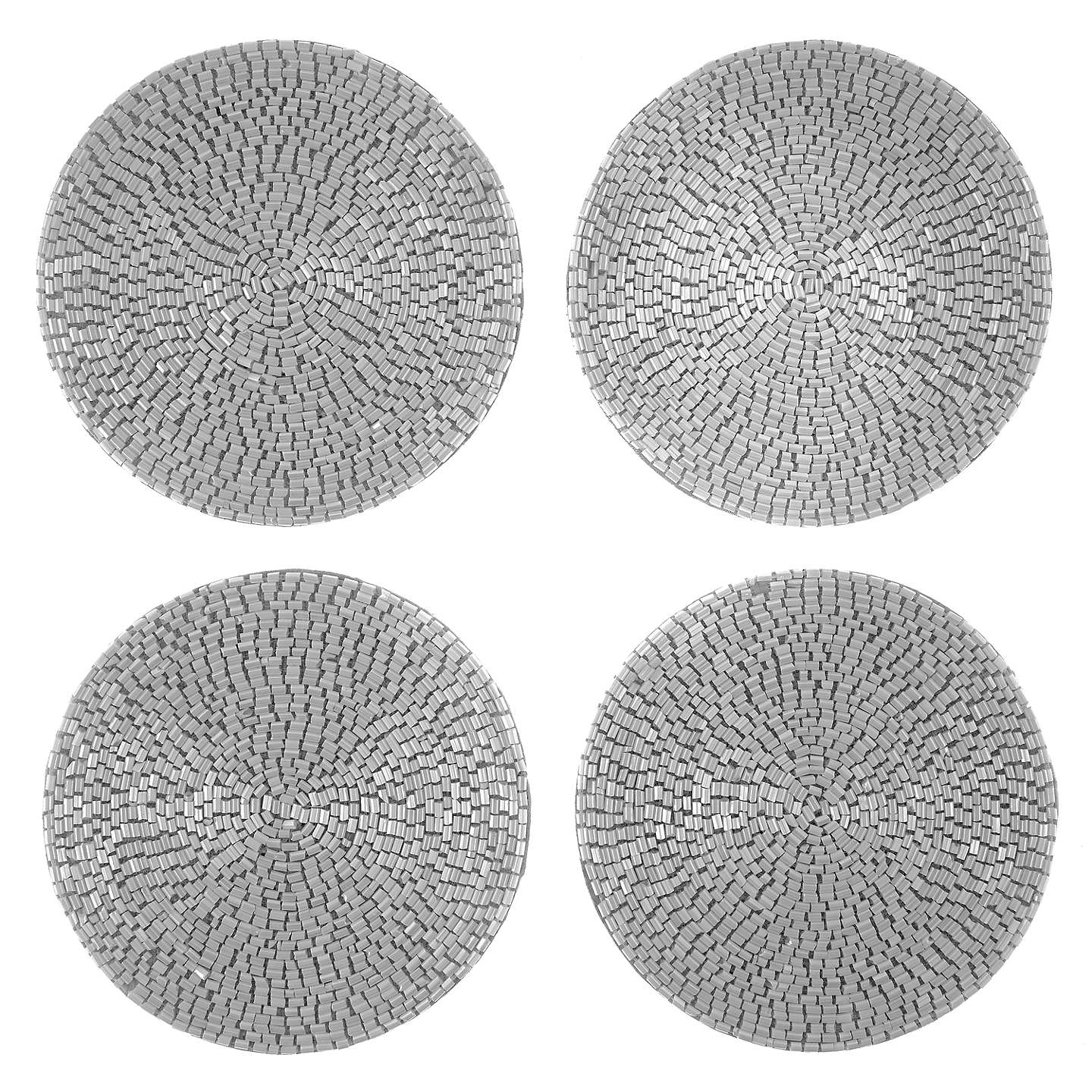 BuyJohn Lewis Glass Bead Coasters, Set of 4, White Online at johnlewis.com