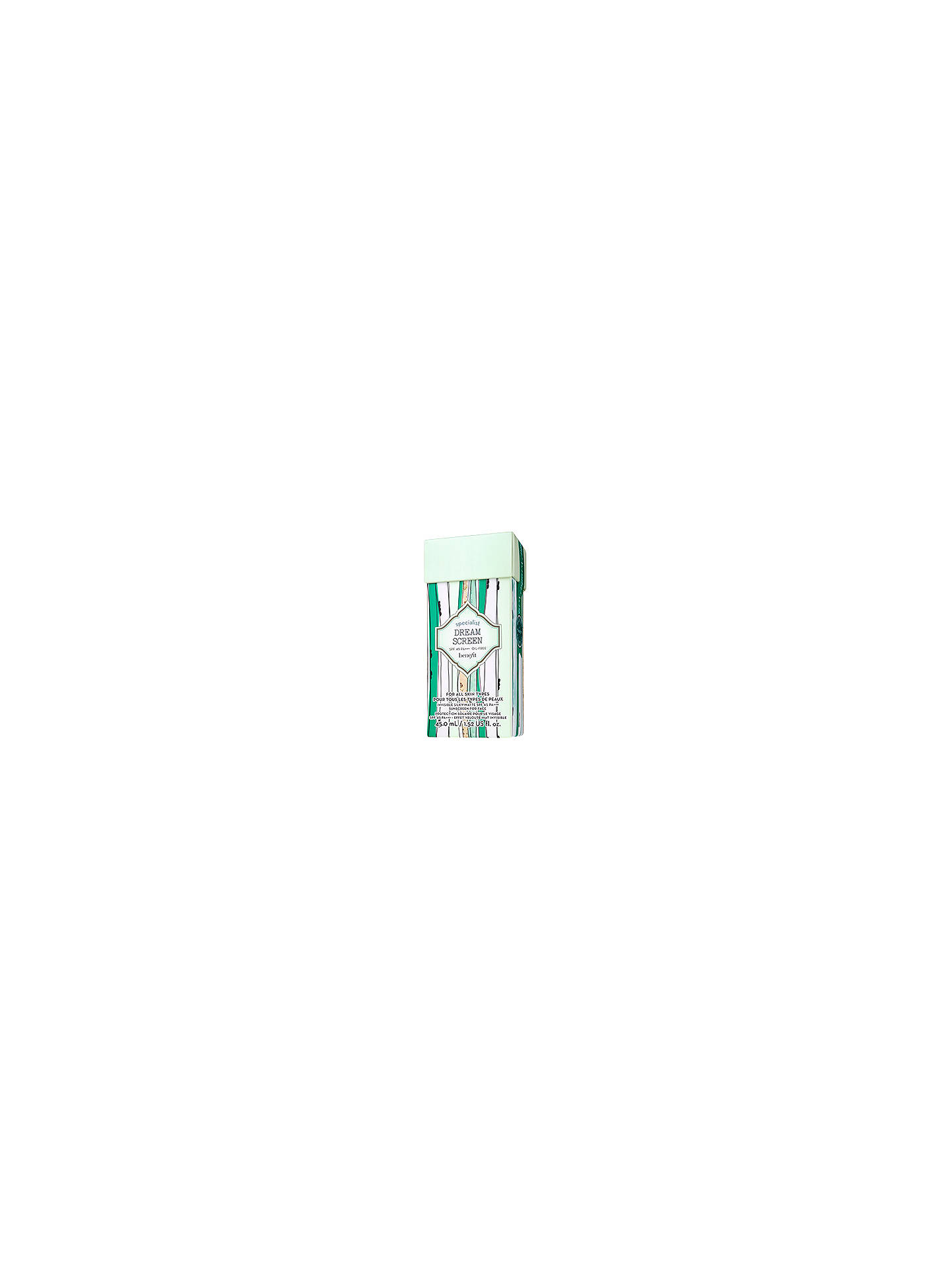 BuyBenefit Dream Screen Facial Sun Cream SPF 45, 45ml Online at johnlewis.com