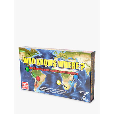 Wildcard Games Who Knows Where? - Global Location Guessing Board Game