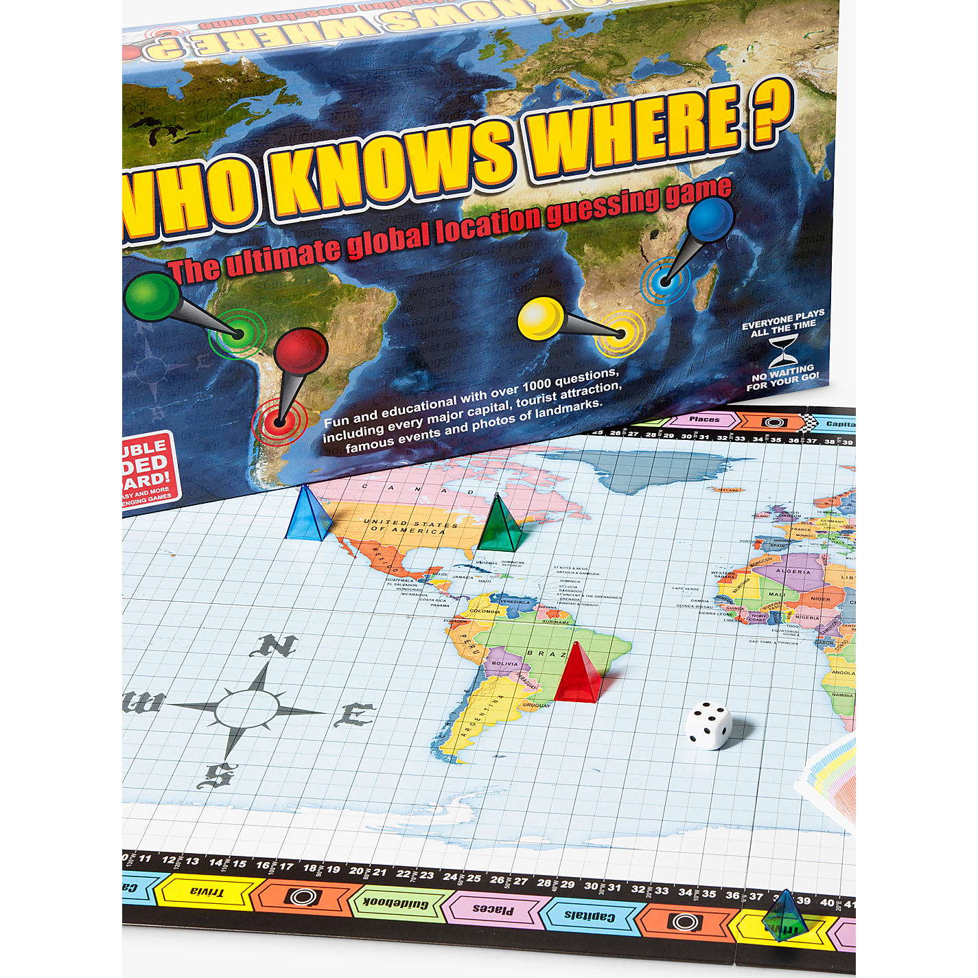 Buy who knows where global location guessing board game john global location guessing board game online at johnlewis sciox Gallery