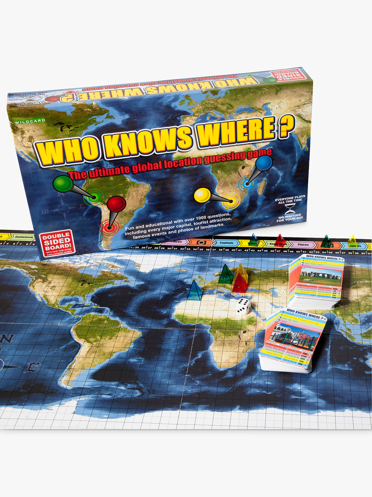 Buy Wildcard Games Who Knows Where? – Global Location Guessing Board Game Online at johnlewis.com