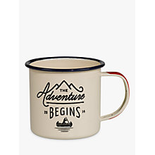 Buy Gentlemen's Hardware Enamel Mug, White/Blue Online at johnlewis.com