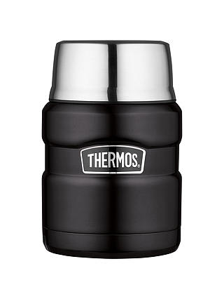 Buy Thermos King Food Flask, 0.47L, Matt Black Online at johnlewis.com