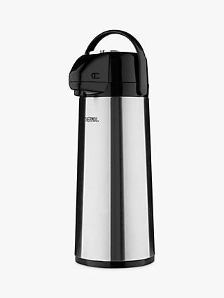 Thermos Lever Action Pump Pot, 2.5L, Stainless Steel