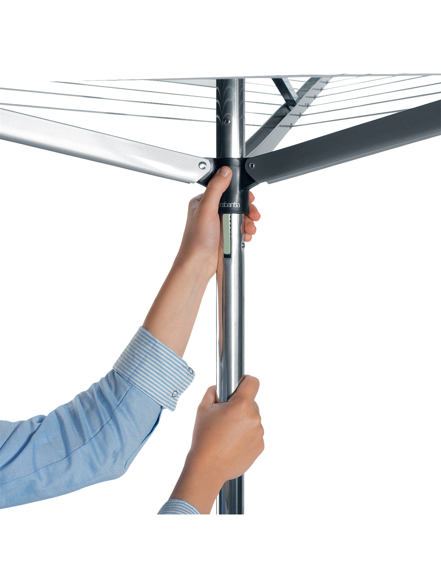 BuyBrabantia Compact Rotary Clothes Outdoor Airer Washing Line, 30m Online at johnlewis.com