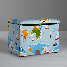 Buy little home at John Lewis Globe Trotter Fabric Toy Box Online at johnlewis.com