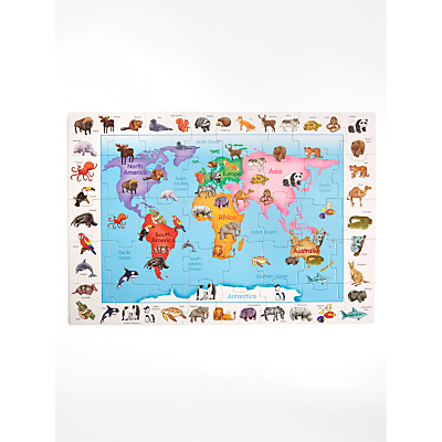 Image of John Lewis & Partners Animals Of World Floor Jigsaw Puzzle, 31 Pieces