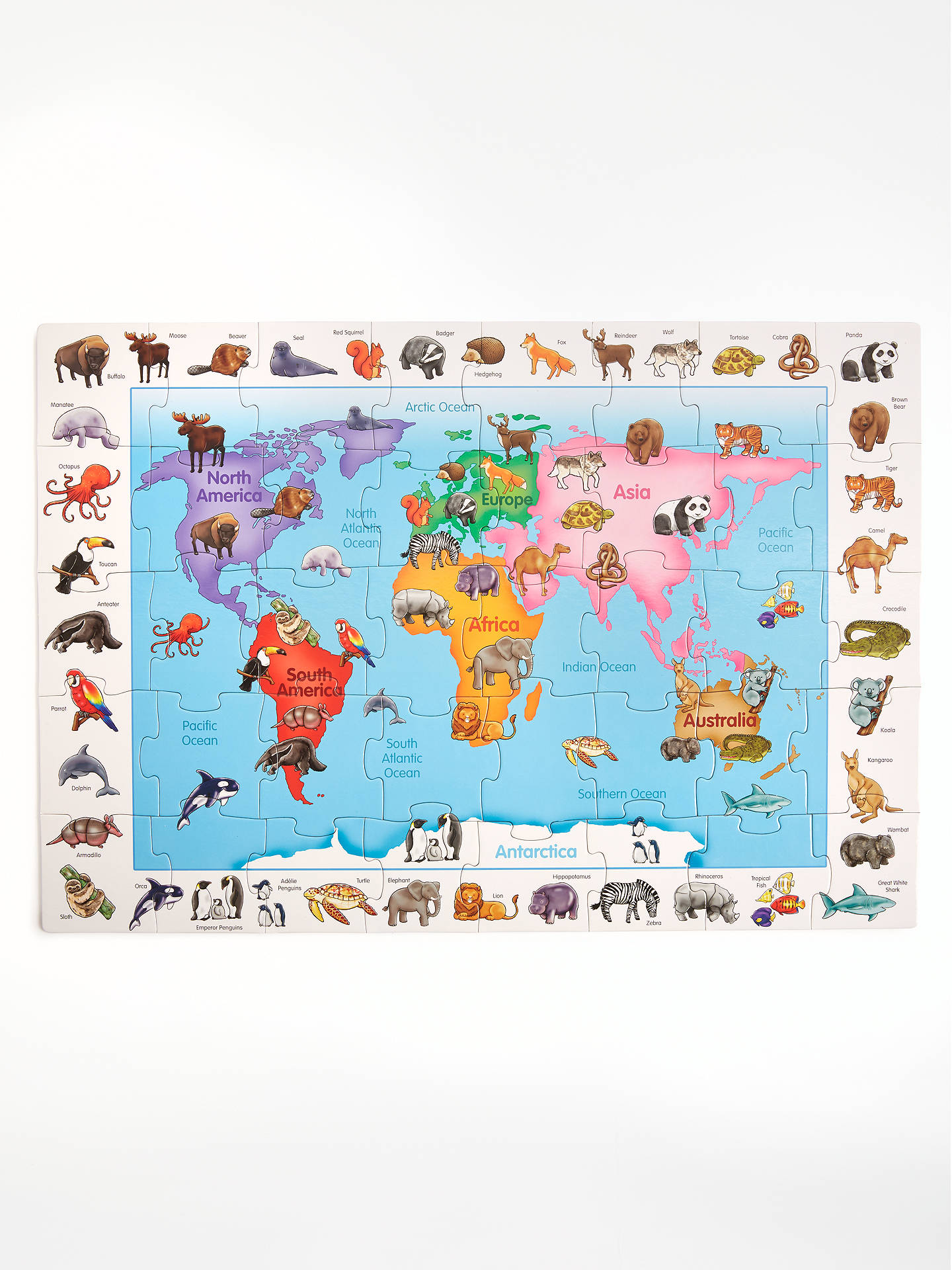 Map Of Australia Jigsaw Puzzle.John Lewis Partners Animals Of World Floor Jigsaw Puzzle 31 Pieces