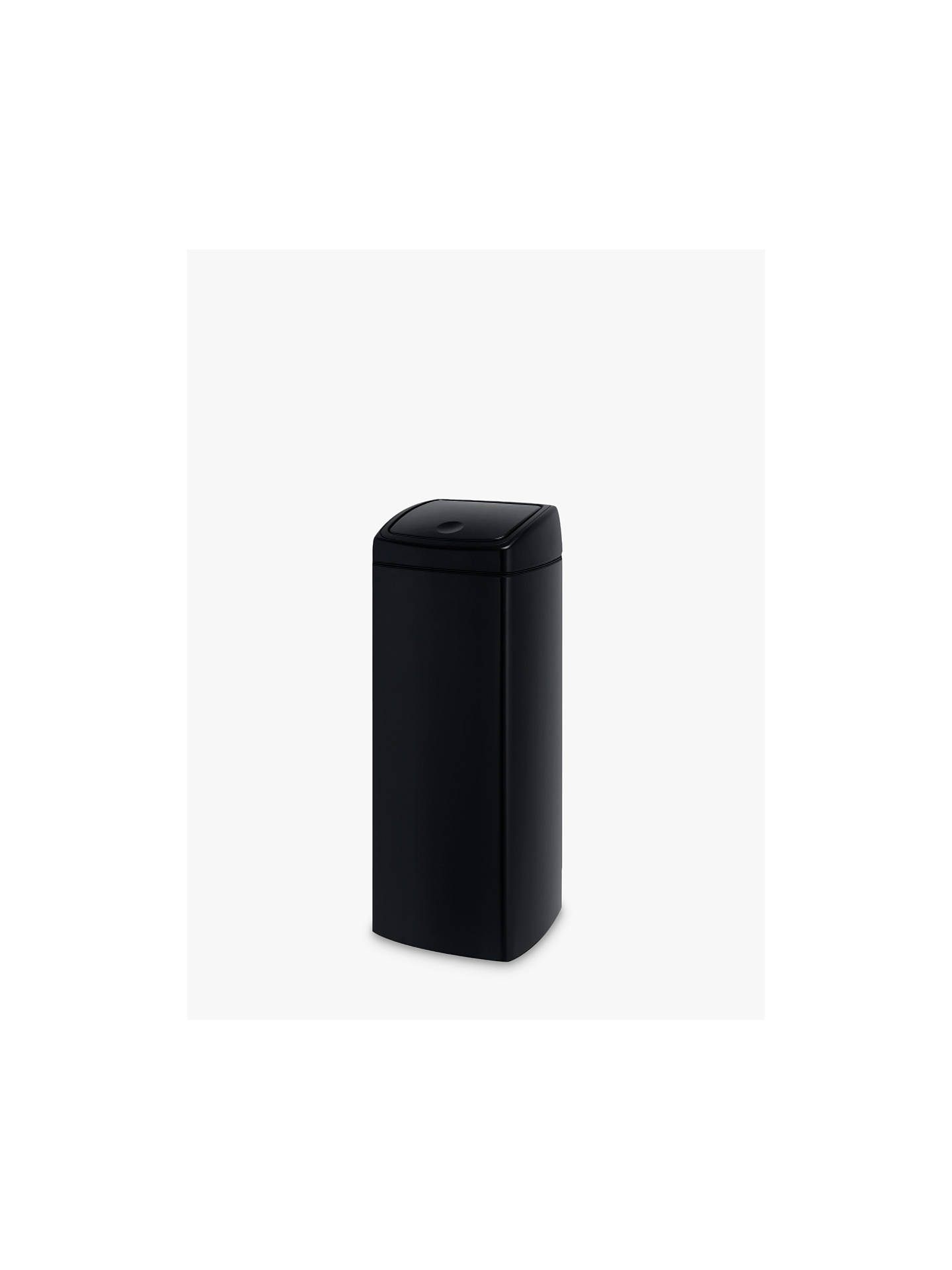 Buy Brabantia Rectangular Touch Bin, Black, 25L Online at johnlewis.com