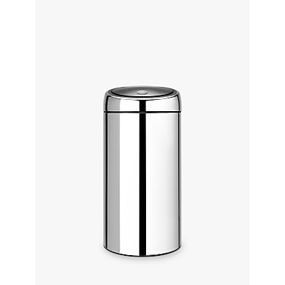 Brabantia Twin Recycling Touch Bin, Brilliant Steel, 20/20L