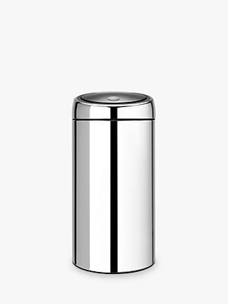 Brabantia Twin Recycling Touch Bin, Brilliant Steel, 20/20L