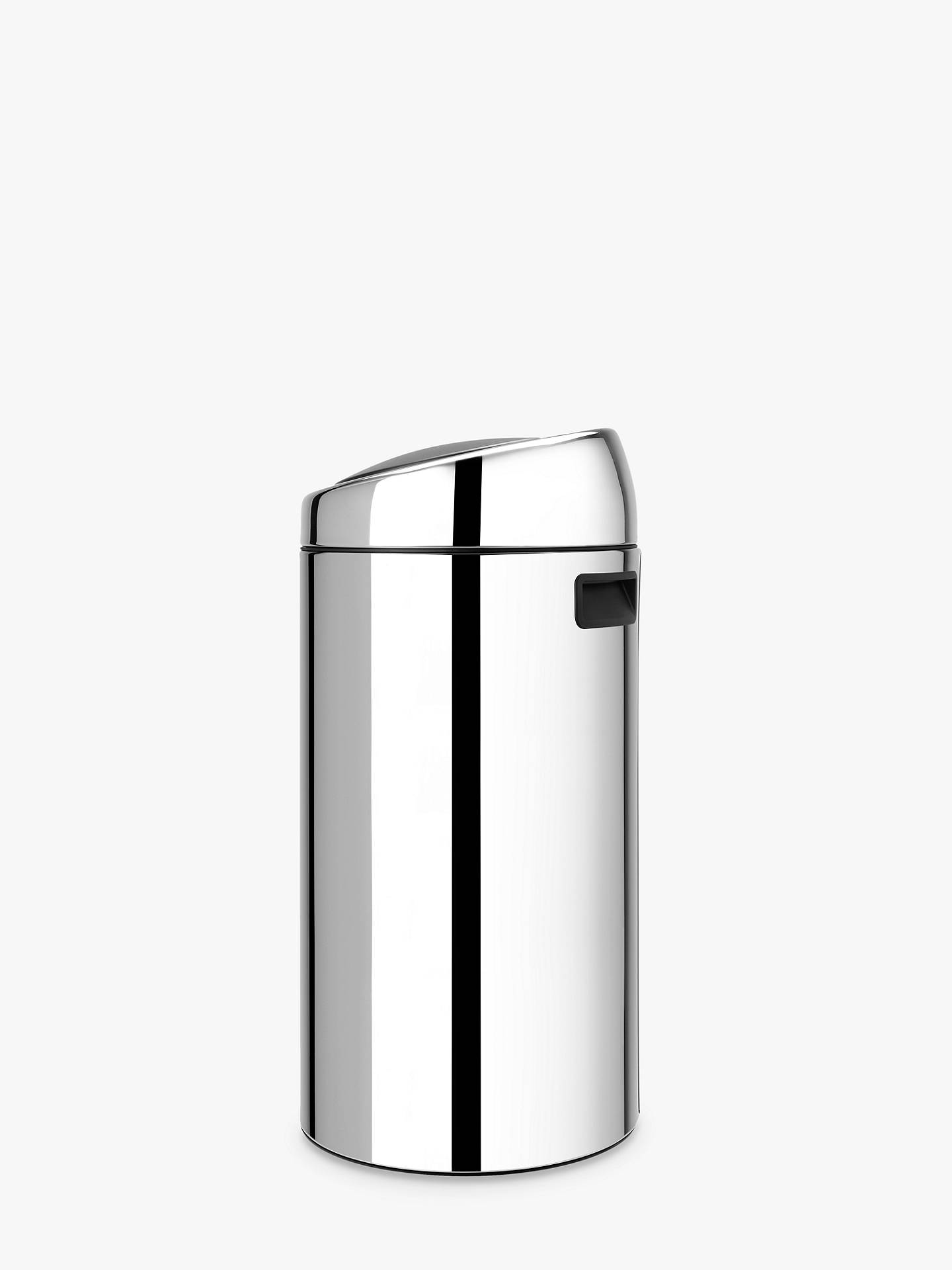 Buy Brabantia Twin Recycling Touch Bin, Brilliant Steel, 20/20L Online at johnlewis.com