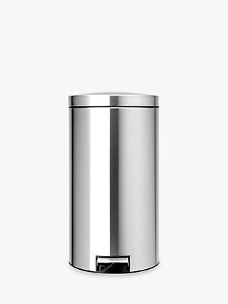 Brabantia Twin Bin, Fingerprint Proof Matt Steel, 20L/20L