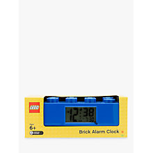 Buy LEGO Brick Alarm Clock, Blue Online at johnlewis.com