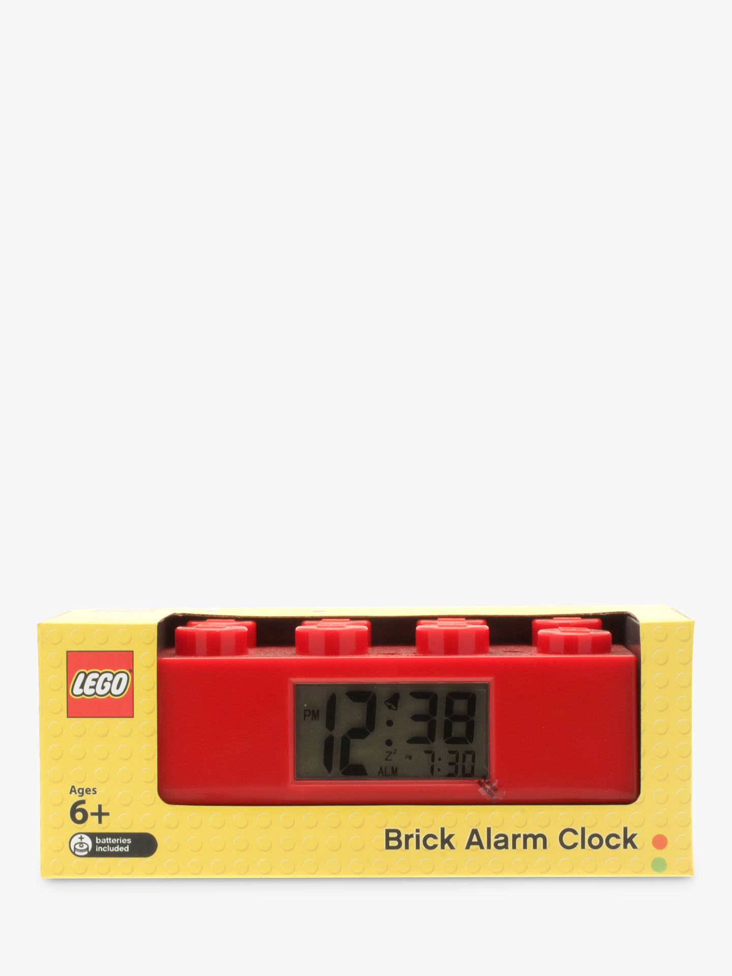 BuyLEGO Brick Alarm Clock, Red Online at johnlewis.com