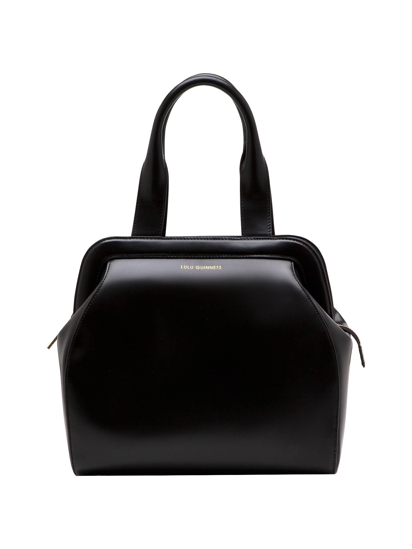 d4ce8f3d3f Buy Lulu Guinness Large Paula Polished Leather Shoulder Handbag