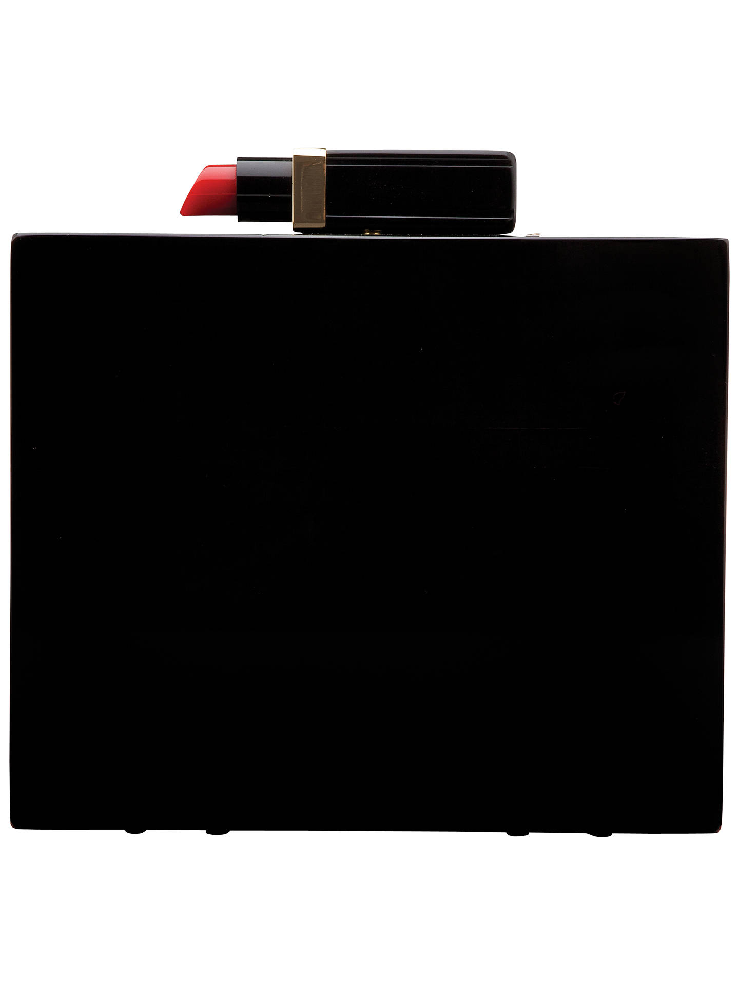 b01806fe2eb Buy Lulu Guinness Chloe Perspex Box Clutch, Black Online at johnlewis.com  ...