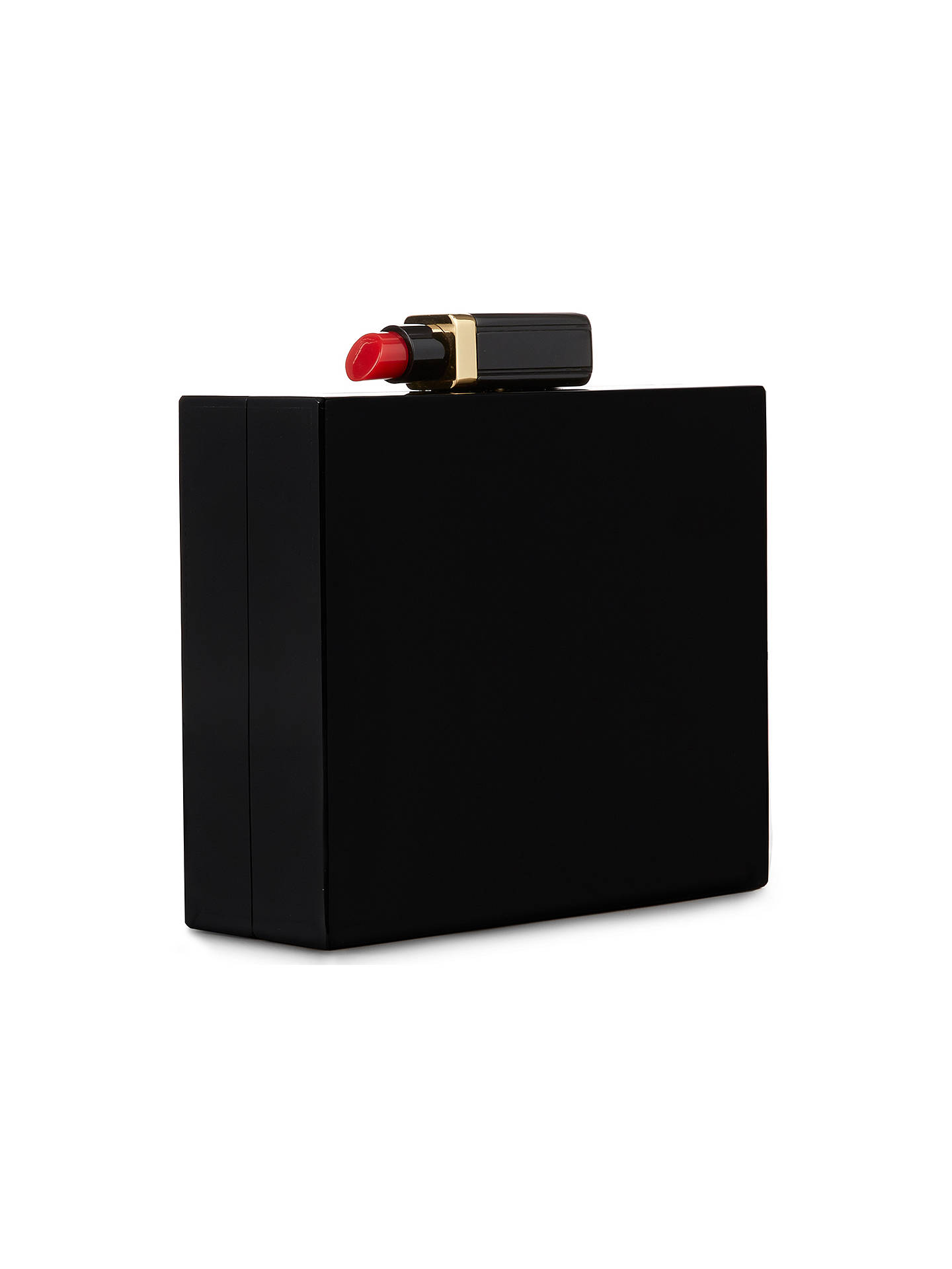 a76d24d4070 ... Buy Lulu Guinness Chloe Perspex Box Clutch, Black Online at  johnlewis.com ...