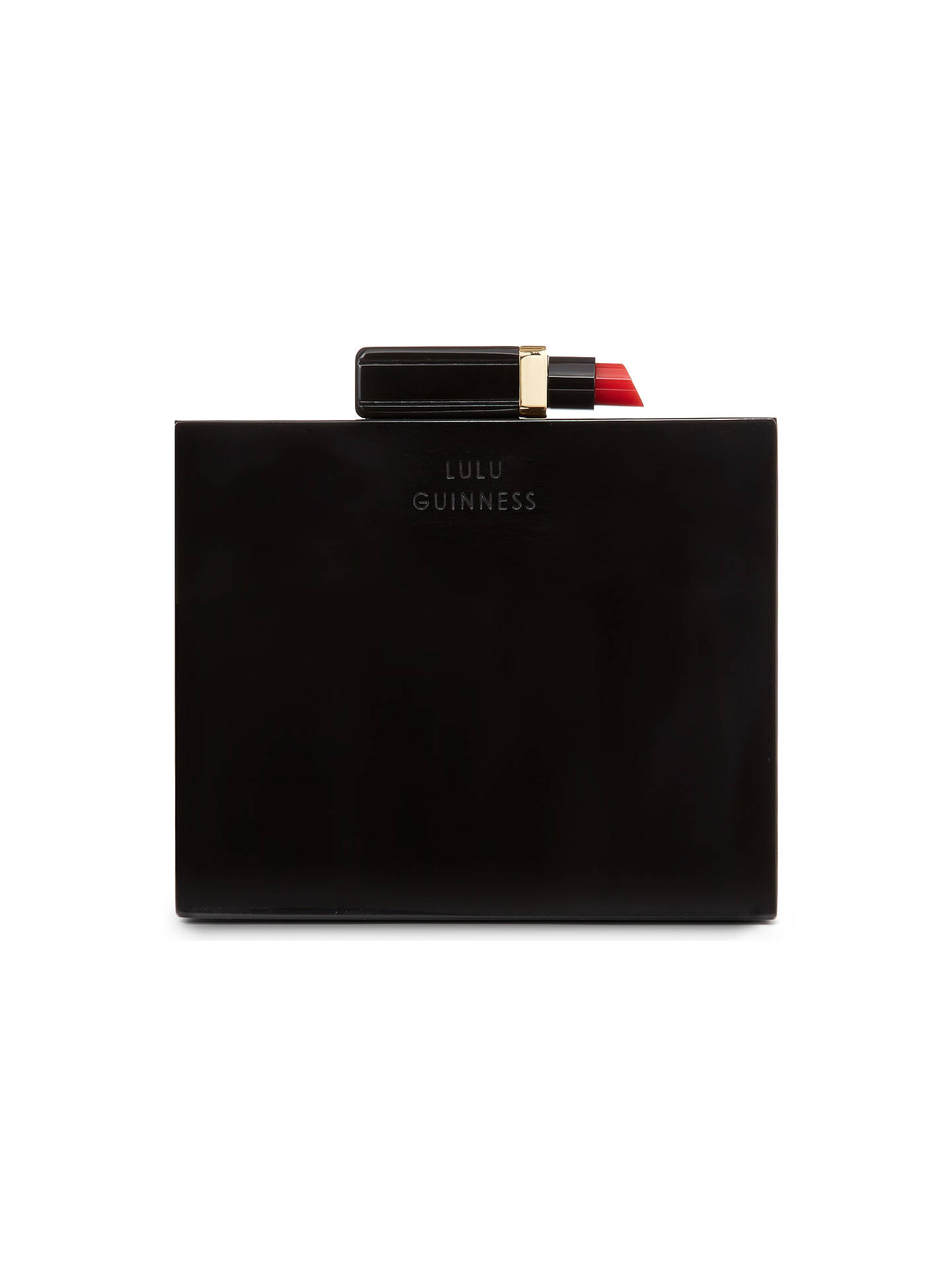 e97471479e2 ... Buy Lulu Guinness Chloe Perspex Box Clutch, Black Online at  johnlewis.com