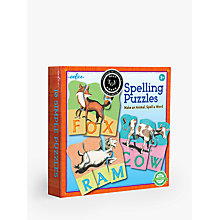Buy Eeboo Animal Spelling Puzzles Online at johnlewis.com