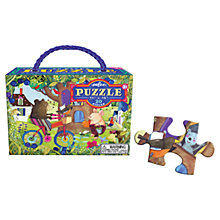 Buy Eeboo Bear On Bike Jigsaw Puzzle Online at johnlewis.com