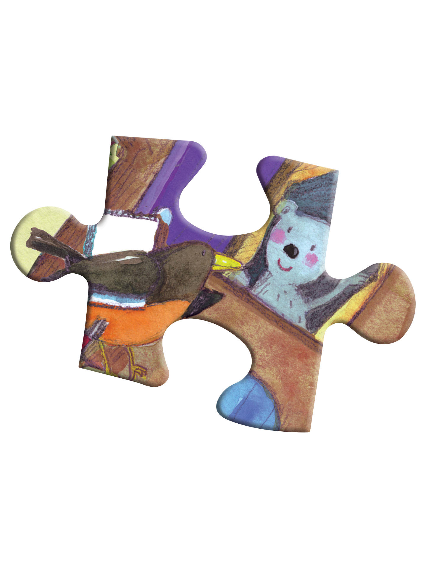 BuyEeboo Bear On Bike Jigsaw Puzzle, 20 Pieces Online at johnlewis.com