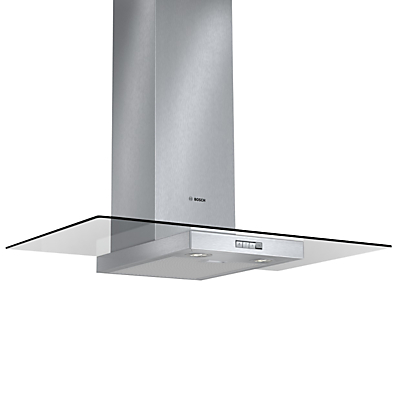 Image of Bosch DWA094W50B Chimney Cooker Hood, Brushed Steel