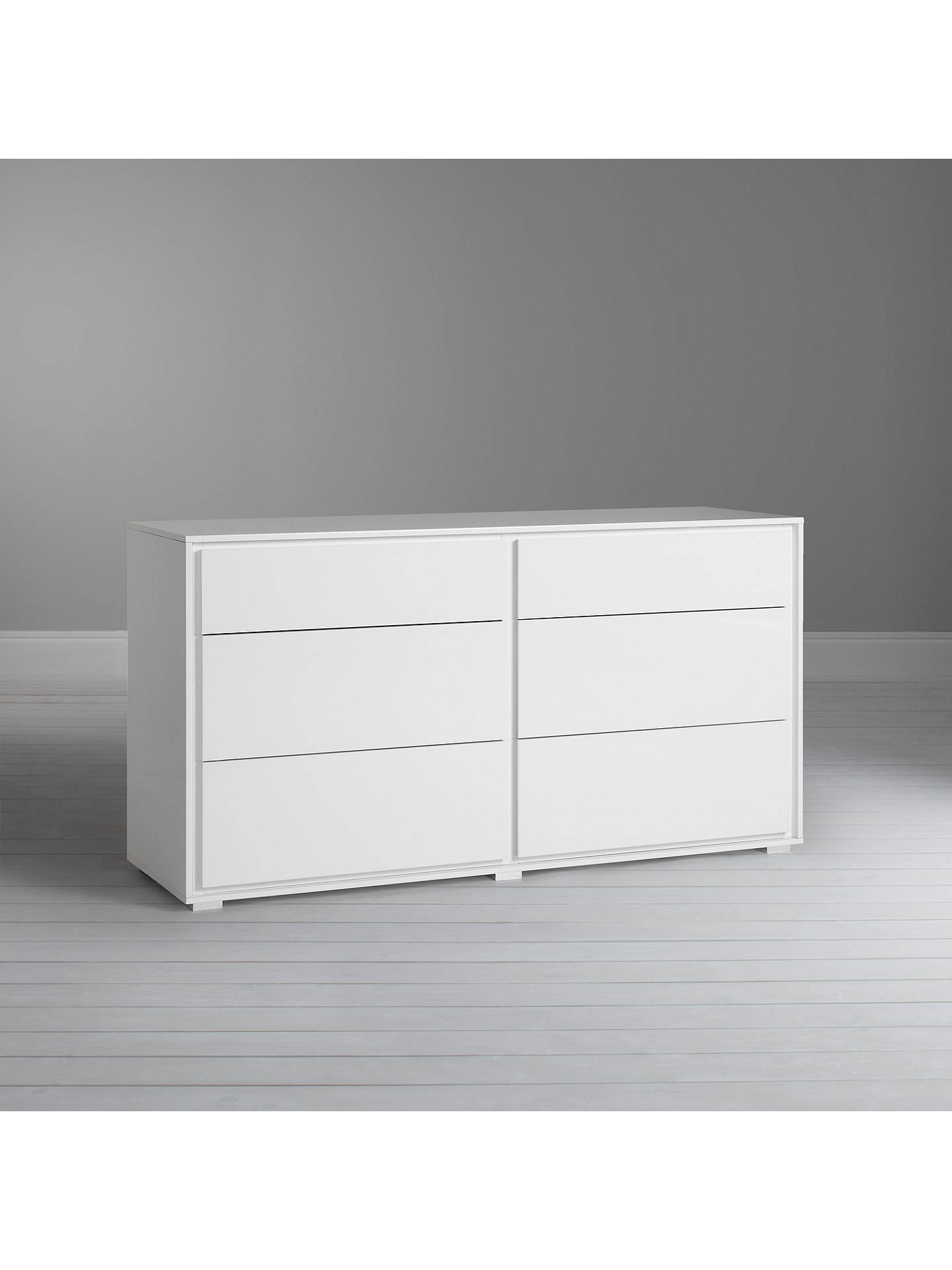 c318b4fa1510 Buy John Lewis & Partners Napoli 6 Drawer Chest, Gloss White Online at  johnlewis.