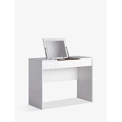 Buy John Lewis Napoli Gloss Dressing Table White John Lewis - Black gloss dressing table
