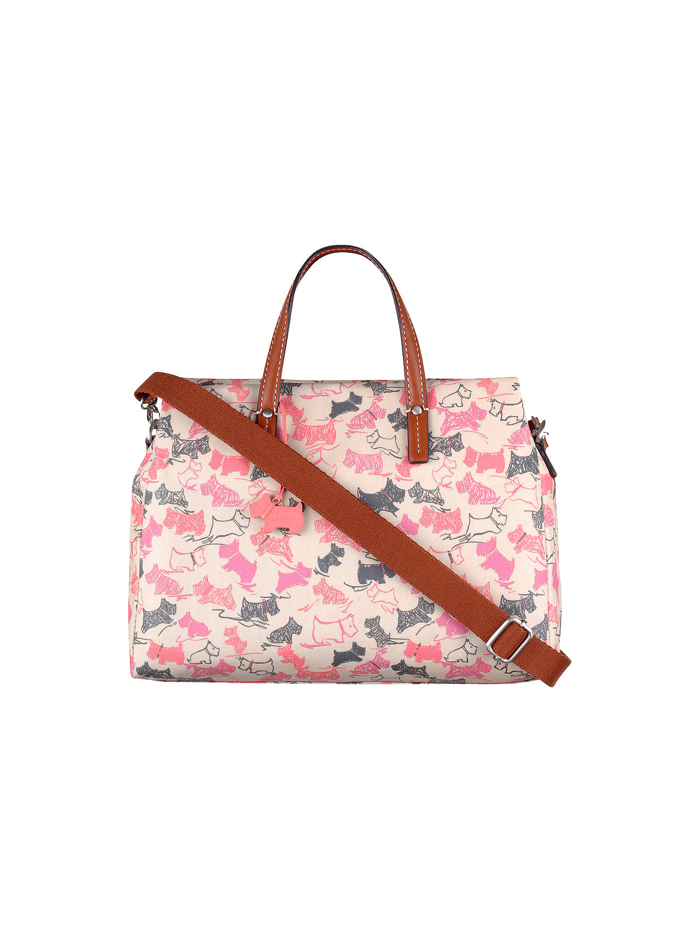 85beeb6ceb Buy Radley Doodle Dog Medium Grab Bag, Pink Online at johnlewis.com ...
