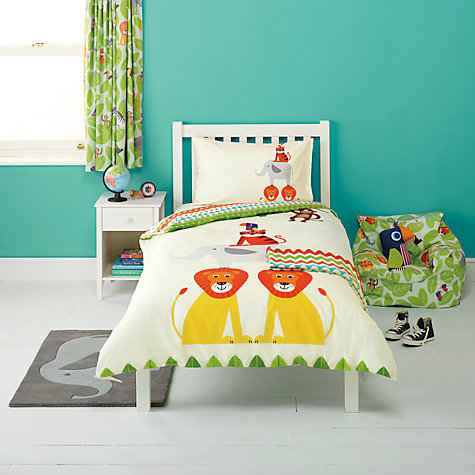 Buy Little Home At John Lewis Animal Fun Duvet Cover And