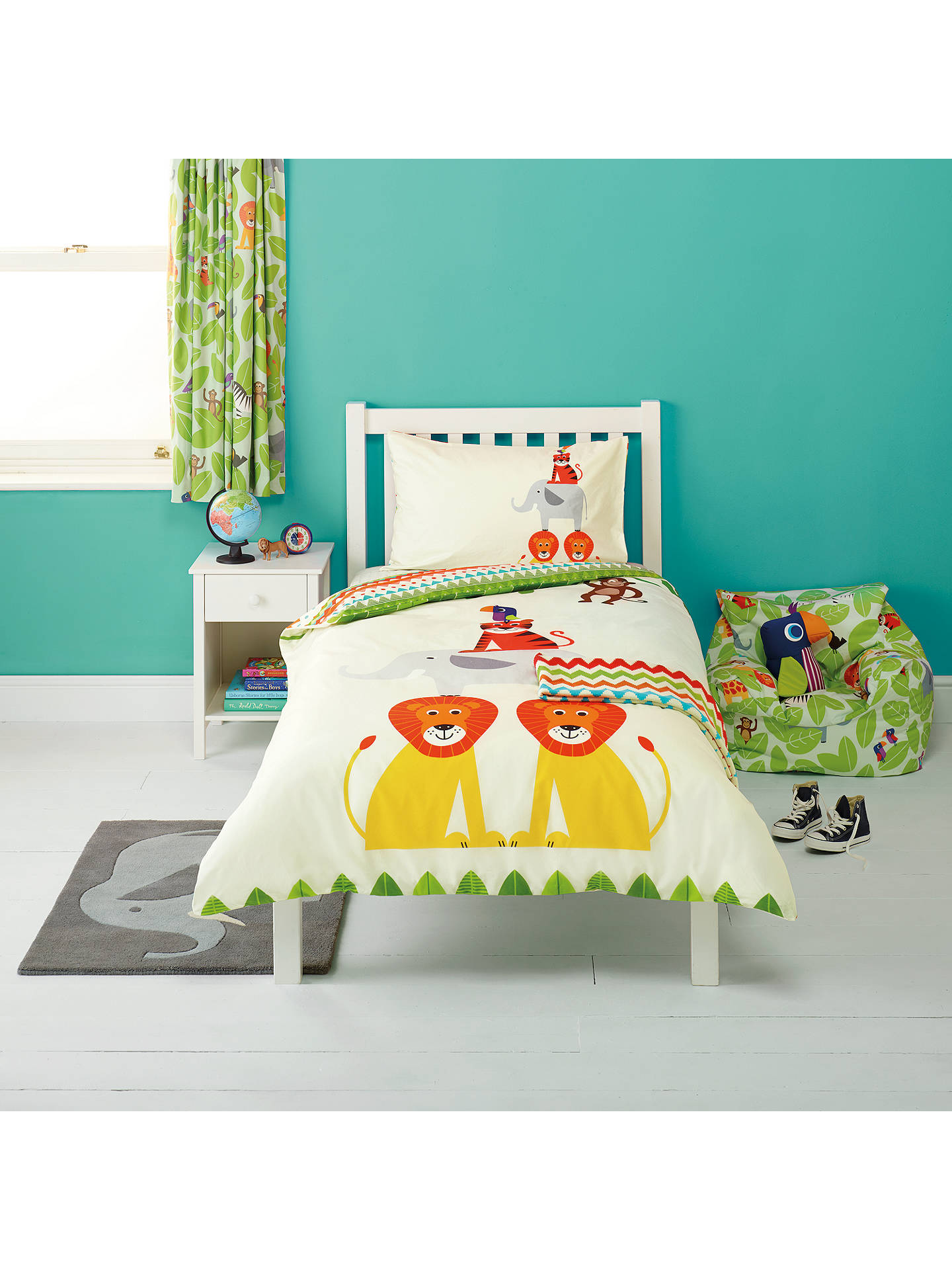 little home at john lewis animal fun duvet cover and. Black Bedroom Furniture Sets. Home Design Ideas