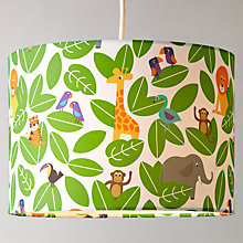 Buy little home at John Lewis Animal Fun Jungle Lampshade Online at johnlewis.com