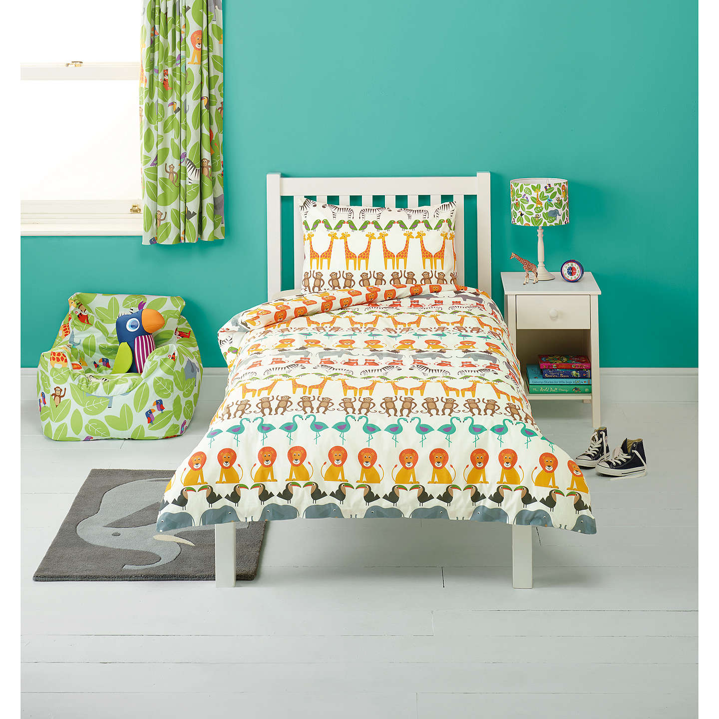 Little Home At John Lewis Animal Fun Two By Duvet Cover And Pillowcase Set
