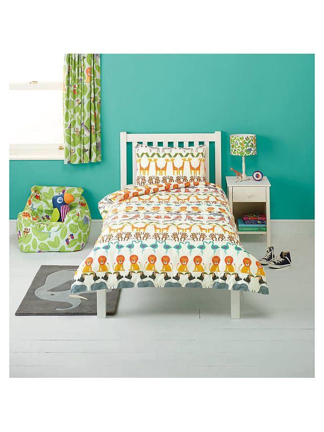 Buy little home at John Lewis Animal Fun Two By Two Animal Duvet Cover and Pillowcase Set, Single Online at johnlewis.com