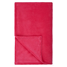 Buy little home at John Lewis Plain Fleece Throw Online at johnlewis.com