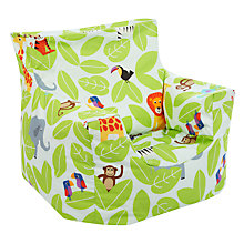 Buy little home at John Lewis Animal Fun Jungle Bean Chair Online at johnlewis.com